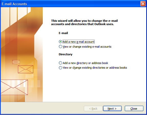 Outlook 2003 E-mail Set up - Step 2