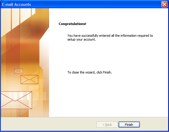 Outlook 2003 E-mail Set up - Step 7
